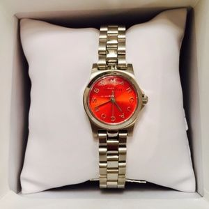 Marc by Marc Jacobs women's  orange faced watch