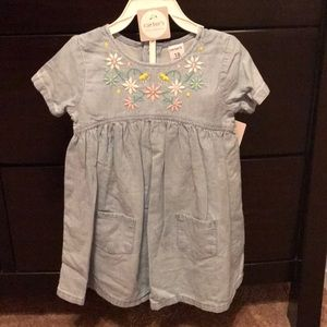 Carters Flower Chambray Dress