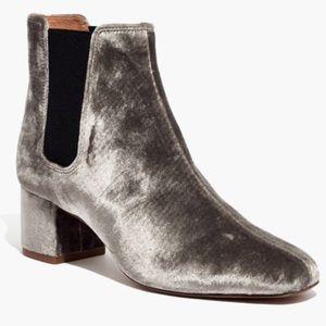 Madewell walker chelsea boot in velvet