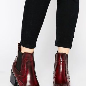 Burgundy boots by New Look