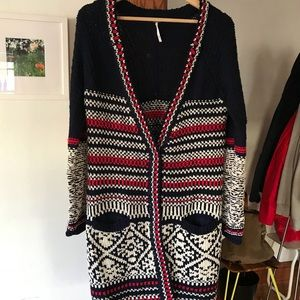 Free People Nordic Sweater jacket