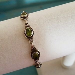 Jewelry - Gourgoes Peridot and Sterling silver bracelet.