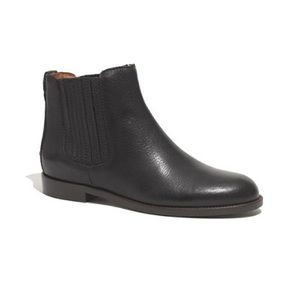 Madewell The Chelsea Boot Black Leather Bootie