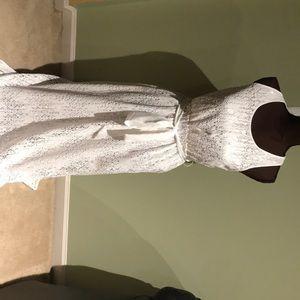 White Banana Republic dress size 4p new