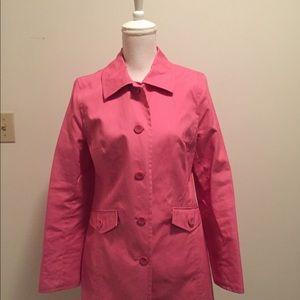 LOFT unlined petal pink raincoat