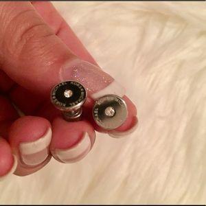 MK stud silver earrings