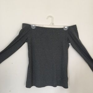Off-the shoulder Long Sleeve Top