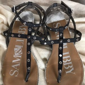 Sam & Libby black sandals