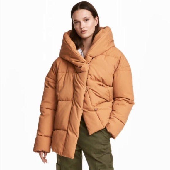 official photos elegant appearance top-rated cheap Padded/Puffer Jacket with Hood Mustard NWT