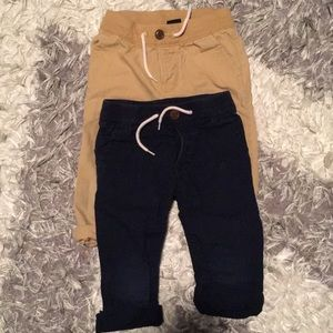 Cotton baby Gap chinos, unlined. Size 18-24 mths