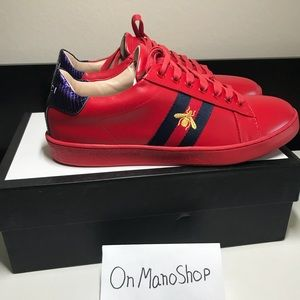 Other - Ace Gucci men size 9.5 red