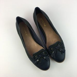 Sperry Top-Sider Oxford Flats Navy Green Size 8M