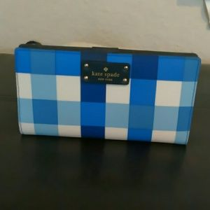 NWT KATE SPADE stacy wallet grovestreet blue
