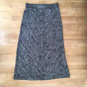 Heathered Black and Gray Maxi Skirt