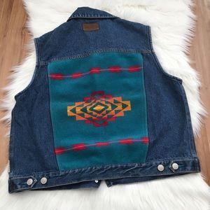 Vintage Pendleton Southwest Denim Vest