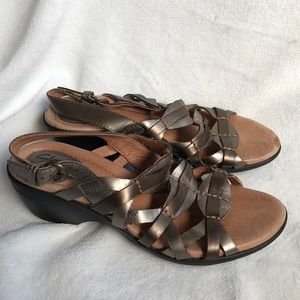 Clark's Leather Sandals 7.5