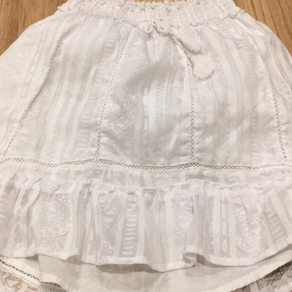 Aeropostale Skirts - Aeropostale High-Low White lace skirt. Super cute!