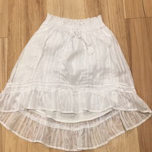 Aeropostale Skirts - Aeropostale High-Low White lace skirt. Super cute!