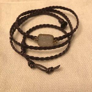 Anthropologie wrap bracelet, purple