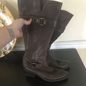 Kelly & Katie Brown Leather Jadine Boot Sz 7.5