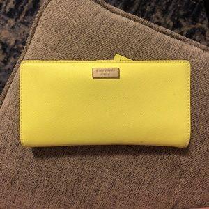 Kate spade Neon yellow/green wallet