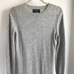 Grey Midi Banana Republic Wool Dress