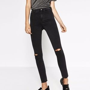 2 Pairs (BLUE AND BLACK) of Zara Jeggings