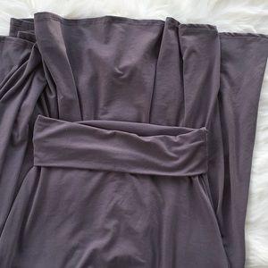 Lularoe Dark Grey Fold Over Top Maxi Skirt