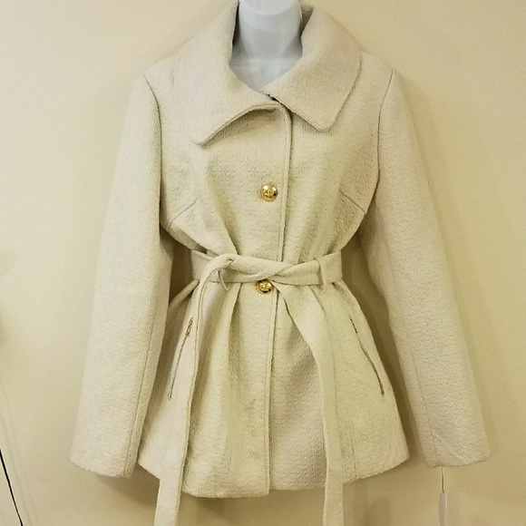 Jessica Simpson Ivory Lined Belted Trench Coat NWT