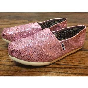 TOMS Original Classic Pink Glitter