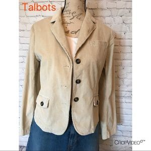 Talbots cream corduroy blazer, size 6