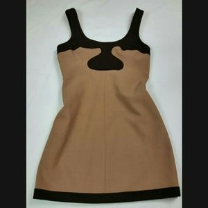 Tory Burch Mocha and Brown Retro Block Dress Sz 10