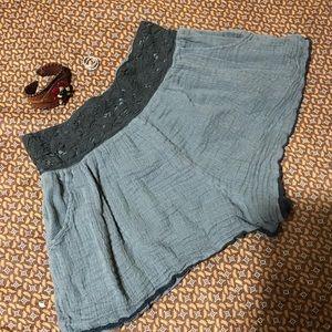 Free People gray gauze shorts XS