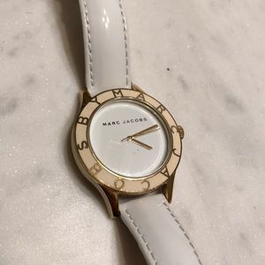 Marc by Marc Jacobs white & gold watch