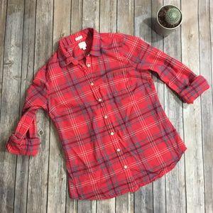 J. Crew Perfect Fit Plaid button up blouse