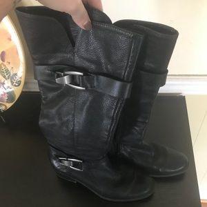 Kelly & Katie Black Leather Jadine Boot Sz 7.5