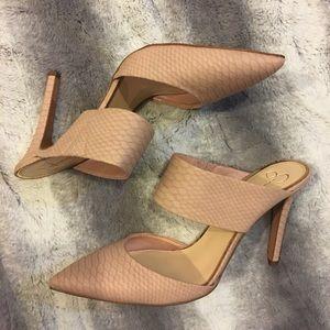 Jessica Simpson CHANDRA Women's Snakeprint Mules