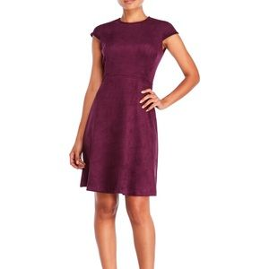 Ivanka Trump Cap Sleeve Faux Suede Dress 4 Small