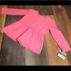 NWT Carter's Pink Dress with White Polka Dots