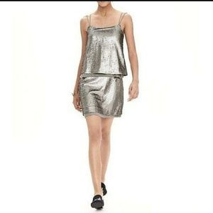 Banana republic strappy sequin party dress!
