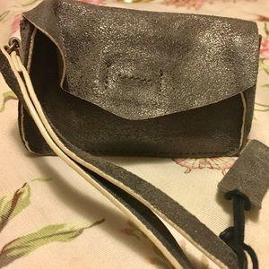NEW LEATHER CONDITION SILVER WRISTLET