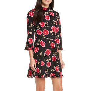 Kate Spade Hazy Rose Crepe A-Line Dress