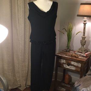 J. R. Nites by Caliendo Black Pantsuit, 2 pieces