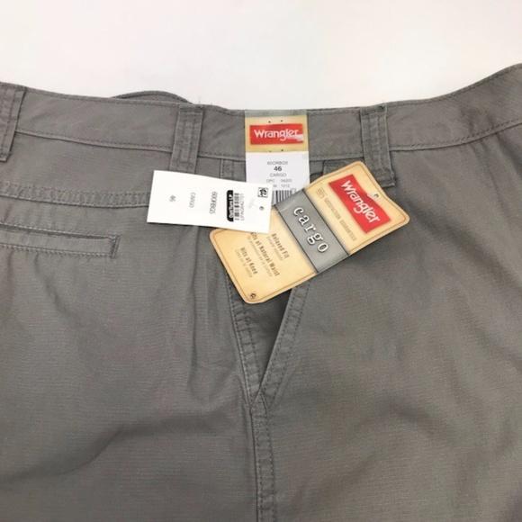 bb116cc735 Wrangler Shorts | Gray Cotton Cargo For Men Size 46 | Poshmark