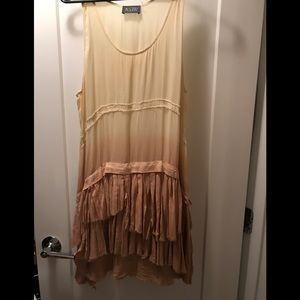 ASTR ombre ruffle dress
