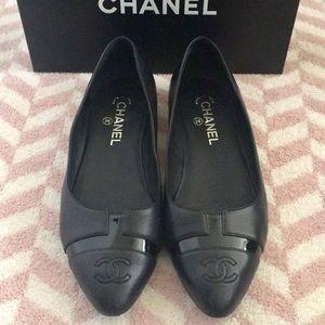 Chanel Pointed-Toe Ballerina Flats