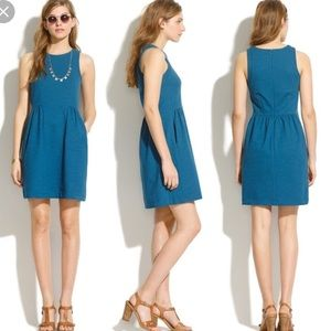 BNWT Madewell Keynote Ponte Knit Dress Teal