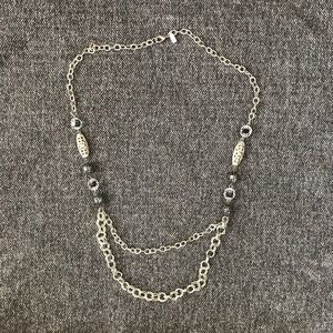 1989 sterling silver chain statement necklace