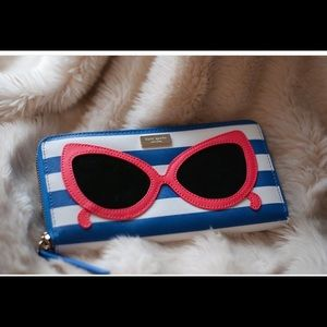Kate Spade striped sunglasses wallet