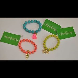Lilly Pulitzer 3 Coral Reef Seaside Bracelets